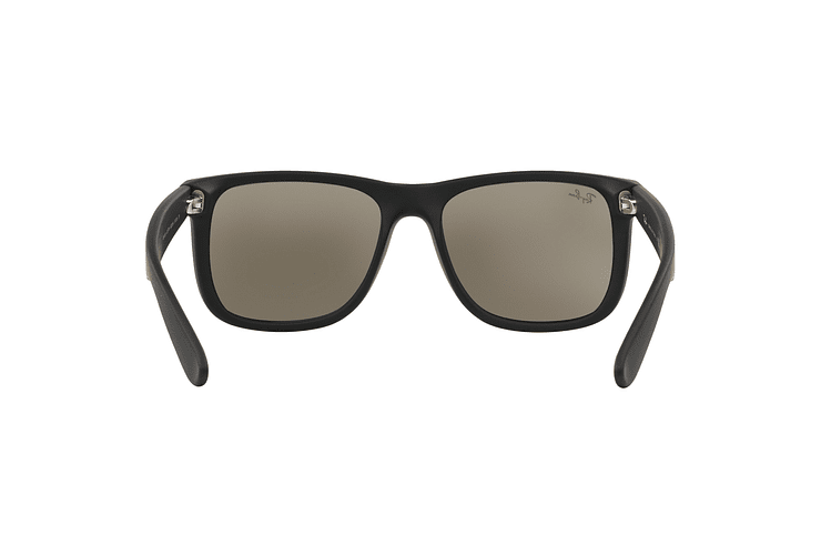 Ray-Ban Justin Rubber Black lente Mirror Gold cod. RB4165 622/5A 55 - Image 6