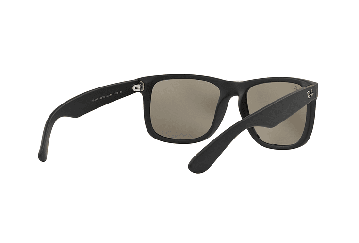 Ray-Ban Justin Rubber Black lente Mirror Gold cod. RB4165 622/5A 55 - Image 7