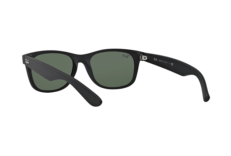 Ray Ban New Wayfarer Black Rubber lente Crystal Green cod. RB2132 622 52 - Image 5