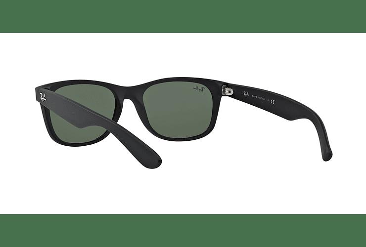 Ray Ban New Wayfarer Black Rubber lente Crystal Green cod. RB2132 622 52 - Image 5