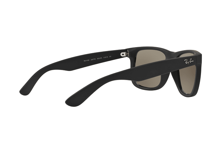 Ray Ban Justin Rubber Black lente Mirror Gold cod. RB4165 622/5A 54 - Image 8