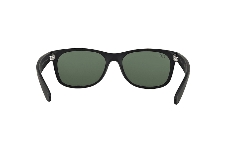 Ray Ban New Wayfarer Black Rubber lente Crystal Green cod. RB2132 622 52 - Image 6