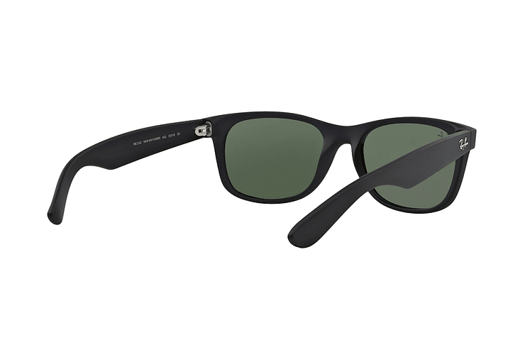 Ray Ban New Wayfarer Black Rubber lente Crystal Green cod. RB2132 622 55 - Image 7