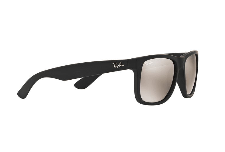 Ray Ban Justin Rubber Black lente Mirror Gold cod. RB4165 622/5A 54 - Image 10