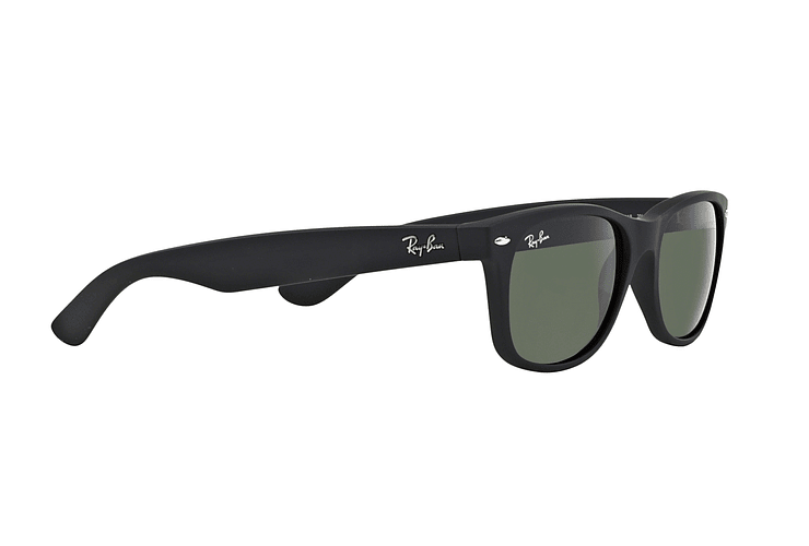 Ray Ban New Wayfarer Black Rubber lente Crystal Green cod. RB2132 622 55 - Image 10