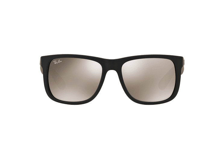 Ray Ban Justin Rubber Black lente Mirror Gold cod. RB4165 622/5A 54 - Image 12