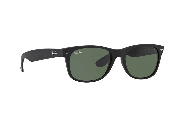 Ray Ban New Wayfarer Black Rubber lente Crystal Green cod. RB2132 622 52 - Image 11