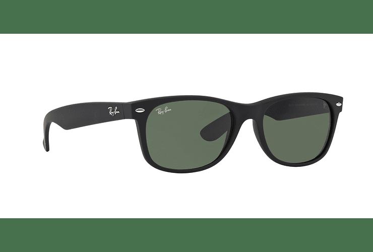 Ray Ban New Wayfarer Black Rubber lente Crystal Green cod. RB2132 622 52 - Image 11