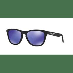 Oakley Frogskins Matte Black lente Violet Iridium cod. 24-298