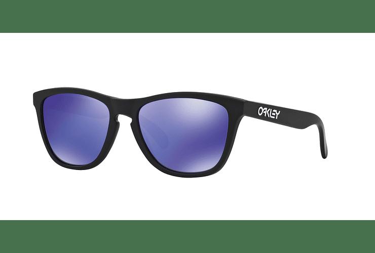 Oakley Frogskins Matte Black lente Violet Iridium cod. 24-298 - Image 1