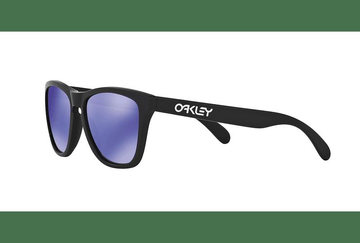 Oakley Frogskins Matte Black lente Violet Iridium cod. 24-298 - Image 2