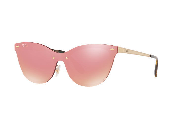 Ray Ban Blaze Cats Brusched Gold lente Pink Mirror cod. RB3580N 043/E4 43 - Image 1