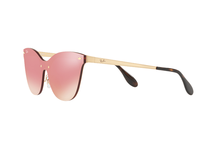 Ray Ban Blaze Cats Brusched Gold lente Pink Mirror cod. RB3580N 043/E4 43 - Image 2