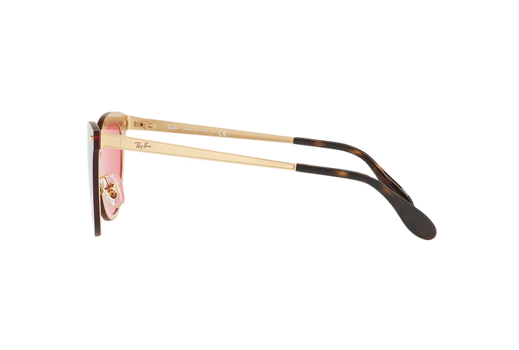 Ray Ban Blaze Cats Brusched Gold lente Pink Mirror cod. RB3580N 043/E4 43 - Image 3