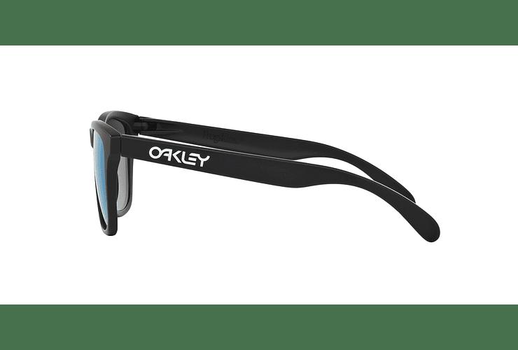 Oakley Frogskins Matte Black lente Violet Iridium cod. 24-298 - Image 3