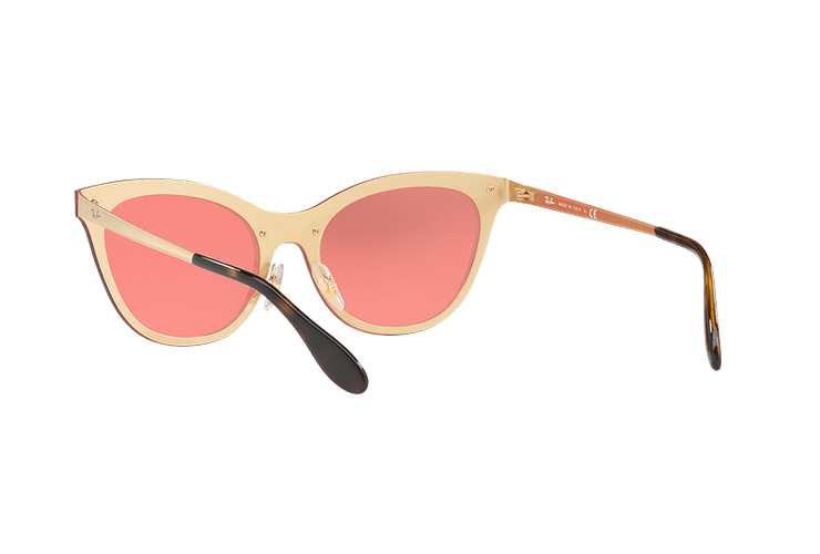 Ray Ban Blaze Cats Brusched Gold lente Pink Mirror cod. RB3580N 043/E4 43 - Image 5