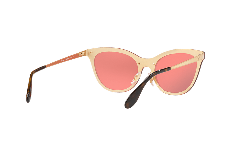 Ray Ban Blaze Cats Brusched Gold lente Pink Mirror cod. RB3580N 043/E4 43 - Image 7