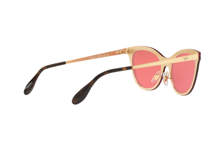 Ray Ban Blaze Cats Brusched Gold lente Pink Mirror cod. RB3580N 043/E4 43 - Image 8
