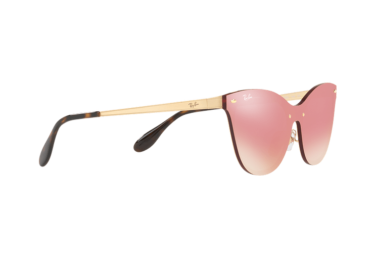 Ray Ban Blaze Cats Brusched Gold lente Pink Mirror cod. RB3580N 043/E4 43 - Image 10