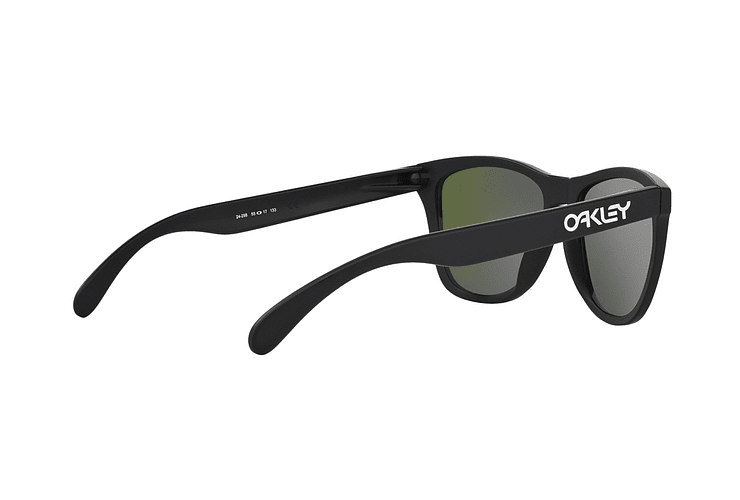 Oakley Frogskins Matte Black lente Violet Iridium cod. 24-298 - Image 8