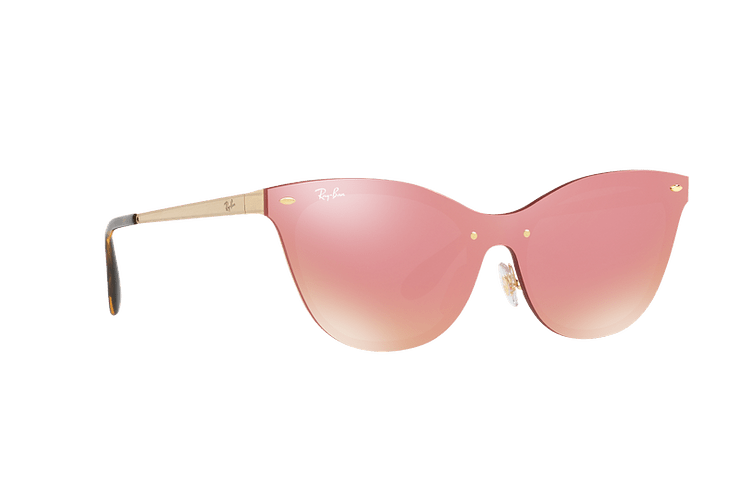 Ray Ban Blaze Cats Brusched Gold lente Pink Mirror cod. RB3580N 043/E4 43 - Image 11