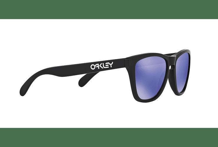 Oakley Frogskins Matte Black lente Violet Iridium cod. 24-298 - Image 10