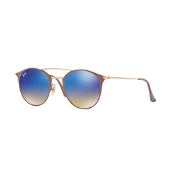 Ray Ban Round RB3546 Gold Top Beige lente Blue Flash Gradient cod. RB3546 90118B 49