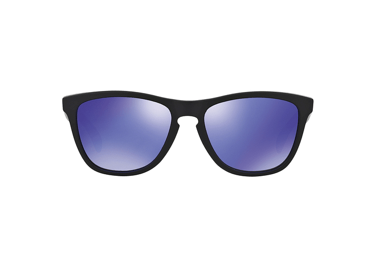 Oakley Frogskins Matte Black lente Violet Iridium cod. 24-298 - Image 12