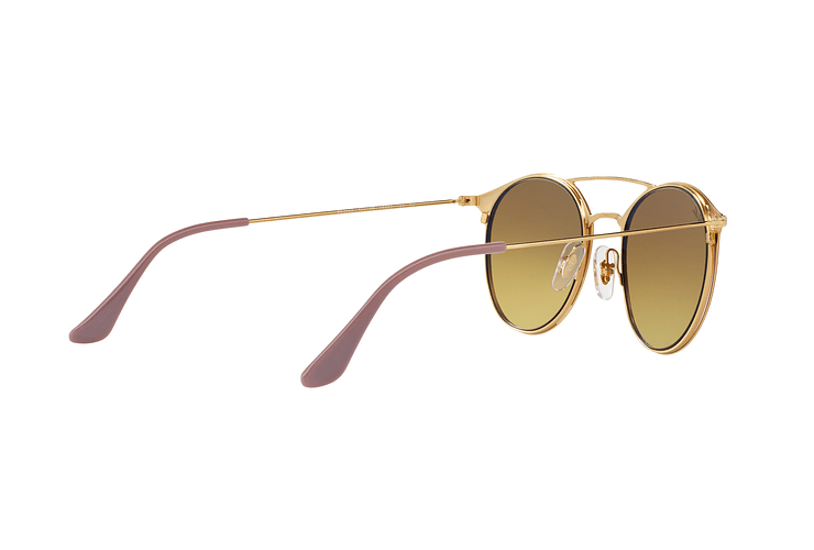 Ray Ban Round RB3546 Gold Top Beige lente Blue Flash Gradient cod. RB3546 90118B 49 - Image 8