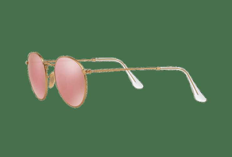 Ray Ban Round Metal Matte Gold lente Brown Mirror Pink cod. RB3447 112/Z2 50 - Image 2