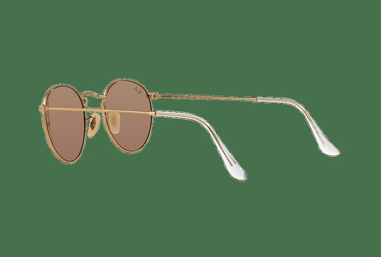 Ray Ban Round Metal Matte Gold lente Brown Mirror Pink cod. RB3447 112/Z2 50 - Image 4