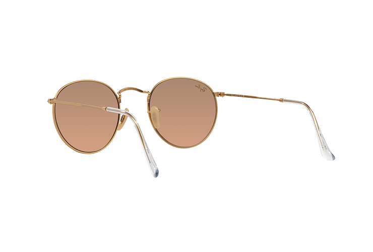 Ray Ban Round Metal Matte Gold lente Brown Mirror Pink cod. RB3447 112/Z2 50 - Image 5