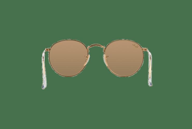Ray Ban Round Metal Matte Gold lente Brown Mirror Pink cod. RB3447 112/Z2 50 - Image 6