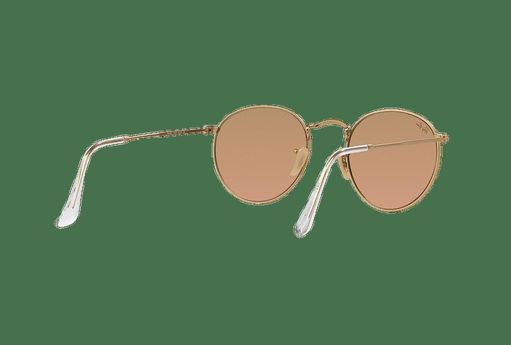 Ray Ban Round Metal Matte Gold lente Brown Mirror Pink cod. RB3447 112/Z2 50 - Image 7