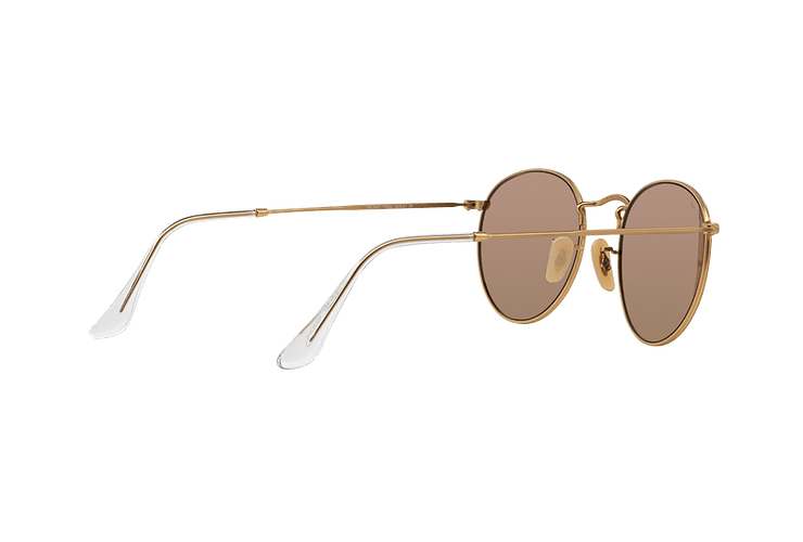 Ray Ban Round Metal Matte Gold lente Brown Mirror Pink cod. RB3447 112/Z2 50 - Image 8