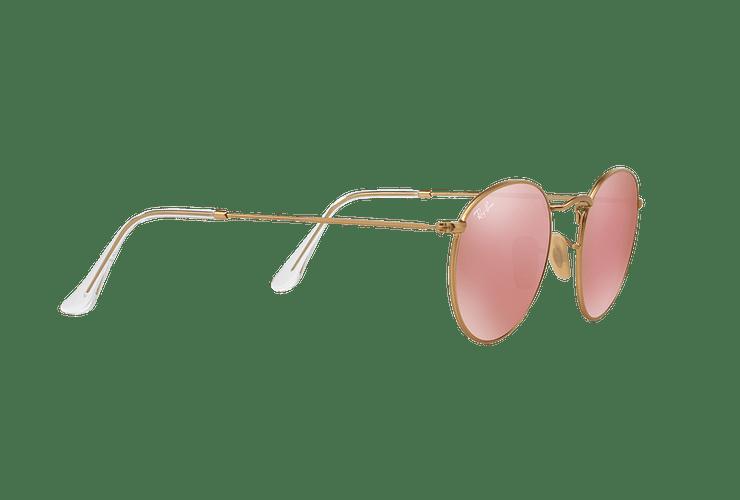 Ray Ban Round Metal Matte Gold lente Brown Mirror Pink cod. RB3447 112/Z2 50 - Image 10
