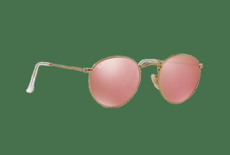 Ray Ban Round Metal Matte Gold lente Brown Mirror Pink cod. RB3447 112/Z2 50 - Image 11
