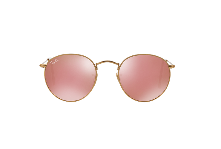 Ray Ban Round Metal Matte Gold lente Brown Mirror Pink cod. RB3447 112/Z2 50 - Image 12