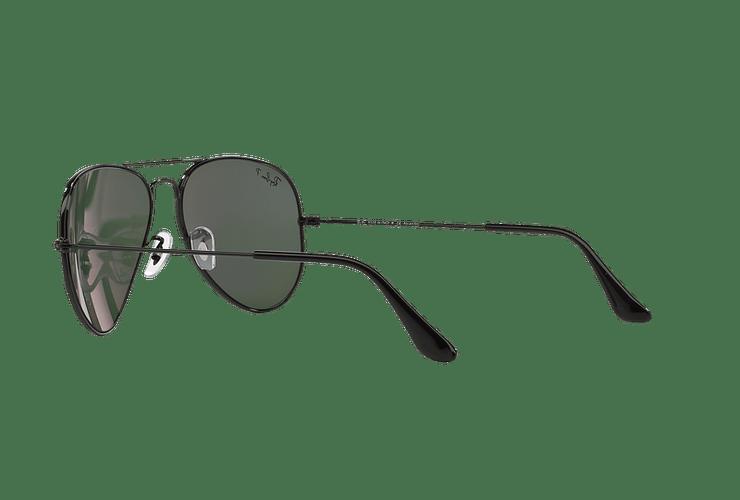 Ray Ban Aviador Black lente Crystal Green Polarized cod. RB3025 002/58 58 - Image 4