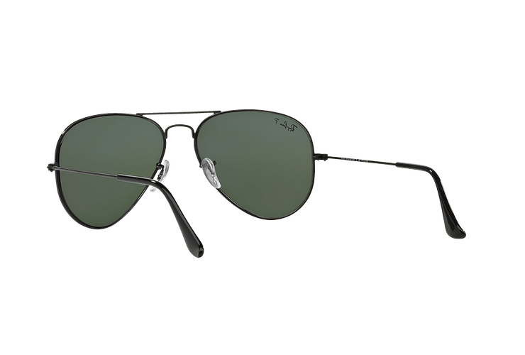 Ray Ban Aviador Black lente Crystal Green Polarized cod. RB3025 002/58 58 - Image 5