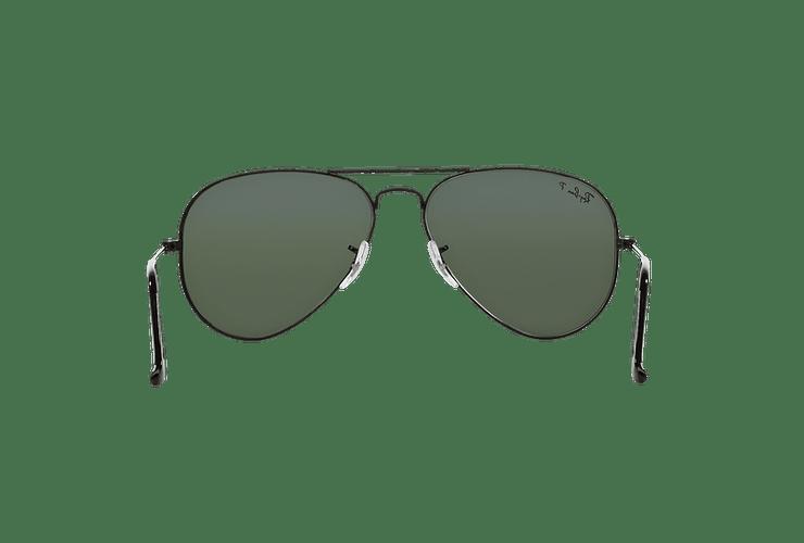 Ray Ban Aviador Black lente Crystal Green Polarized cod. RB3025 002/58 58 - Image 6