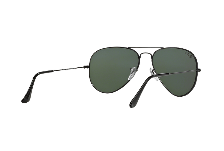 Ray Ban Aviador Black lente Crystal Green Polarized cod. RB3025 002/58 58 - Image 7