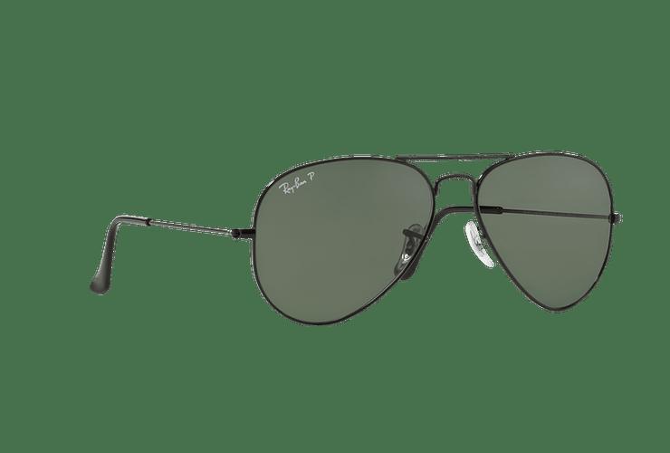 Ray Ban Aviador Black lente Crystal Green Polarized cod. RB3025 002/58 58 - Image 11