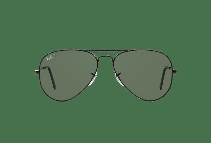 Ray Ban Aviador Black lente Crystal Green Polarized cod. RB3025 002/58 58 - Image 12