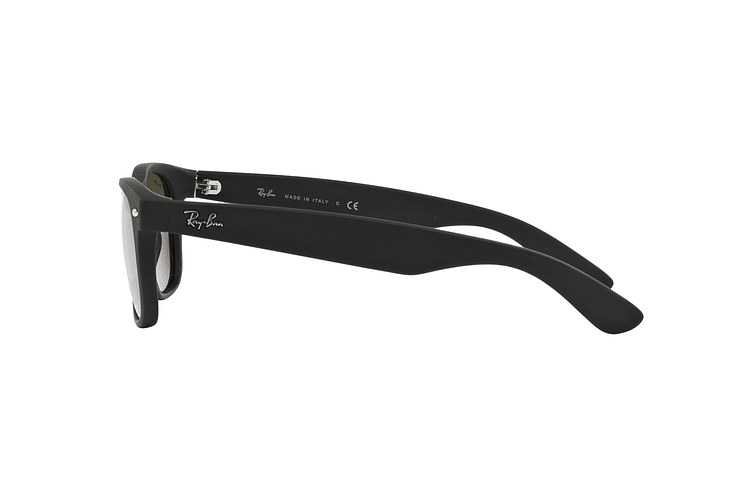 Ray Ban New Wayfarer Rubber Black lente Mirror Silver cod. RB2132 622/30 55 - Image 3