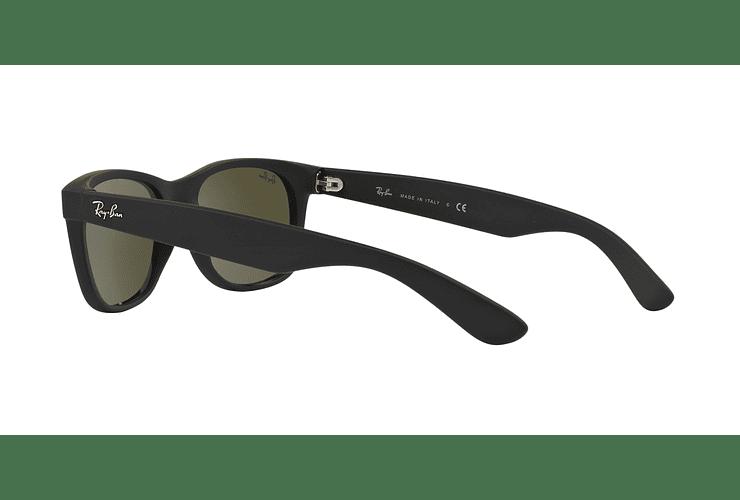 Ray Ban New Wayfarer Rubber Black lente Mirror Silver cod. RB2132 622/30 55 - Image 4