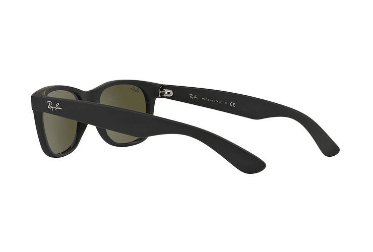 Ray Ban New Wayfarer Rubber Black lente Mirror Silver cod. RB2132 622/30 55 - Image 4