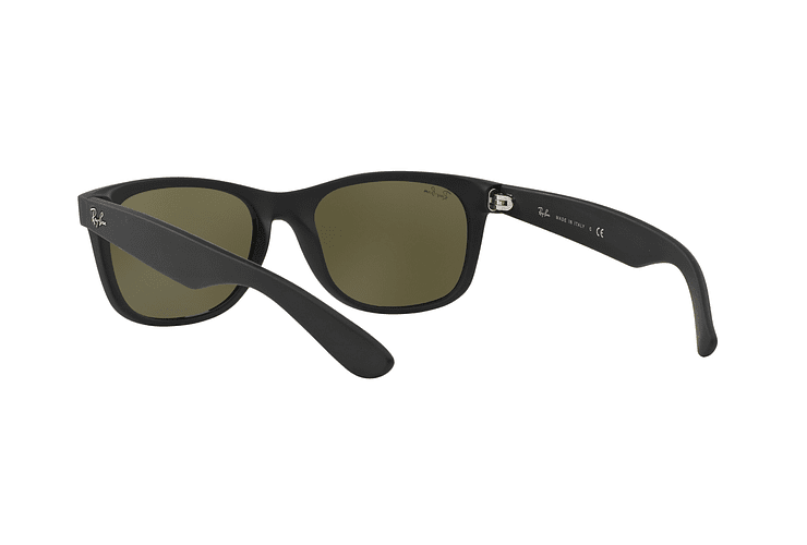 Ray Ban New Wayfarer Rubber Black lente Mirror Silver cod. RB2132 622/30 55 - Image 5