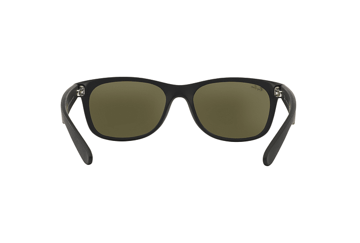 Ray Ban New Wayfarer Rubber Black lente Mirror Silver cod. RB2132 622/30 55 - Image 6