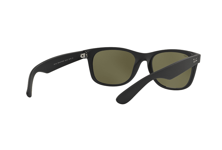 Ray Ban New Wayfarer Rubber Black lente Mirror Silver cod. RB2132 622/30 55 - Image 7